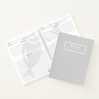 Simply Gray Solid Color Customize It Notebook