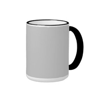 Simply Gray Solid Color Ringer Coffee Mug