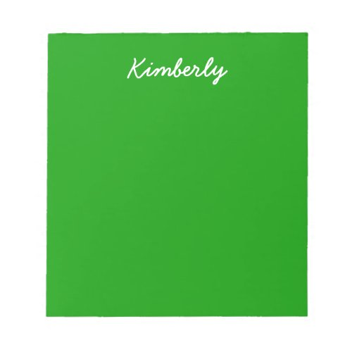 Simply Green Solid Color Notepad