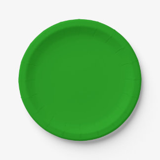 Simply Green Solid Color Paper Plate