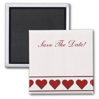 Simply hearts 2 inch square magnet