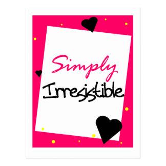 Simply Irresistible Postcard