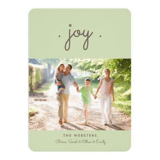 Simply Joy Holiday Photo Card   Mint