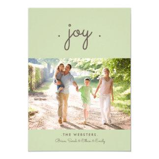 Simply Joy Holiday Photo Card | Mint