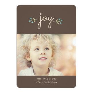 Simply Joy Holiday Photo Card   Sable