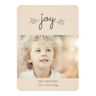 Simply Joy Holiday Photo Card   Vanilla