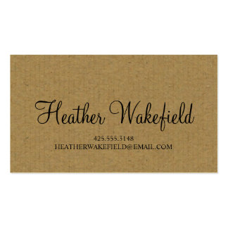 Simply Kraft Calling Card Double-Sided Standard Business Cards (Pack Of 100)