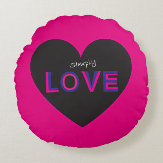 Simply Love Round Pillow