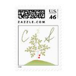 Simply Love Tree Monogram Postage