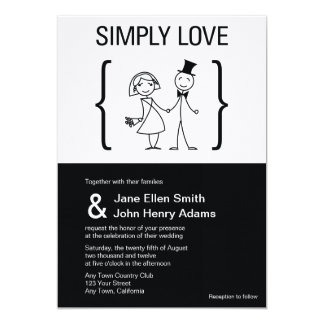 Simply Love Wedding Invitation