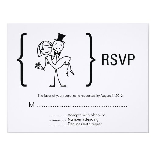 Simply Love Wedding Rsvp Card Personalized Announcement