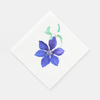Simply Lovely Purple Clematis Blossom Standard Luncheon Napkin