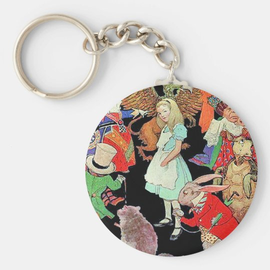 Simply, Madly Alice Keychain