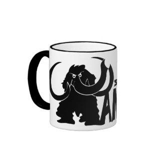 Simply Mammoth Ringer Coffee Mug