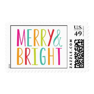 Simply Merry and Bright Holiday Postage
