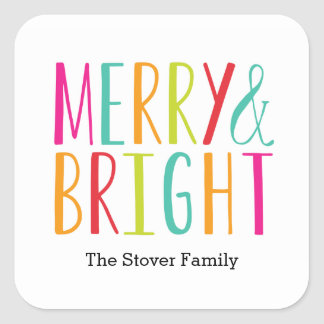 Simply Merry and Bright Holiday Sticker