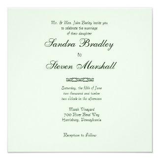 Simply Minty Wedding Invitation