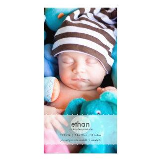 Simply Modern Boy Baby Photo Birth Announcement