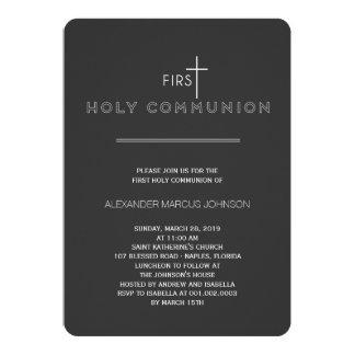 "Simply Modern First Holy Communion Stylish Invite 5"" X 7"" Invitation Card"