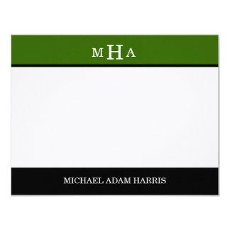 Simply Modern Graduation Thank You Cards (Green)