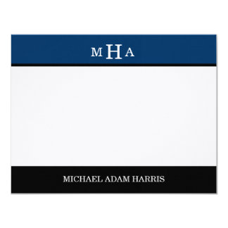 Simply Modern Graduation Thank You Cards (Navy)