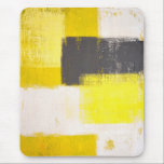 "&#39;Simply Modern&#39; Grey and Yellow Abstract Mousepad<br><div class=""desc"">The image used to create this mousepad is an original abstract art painting by T30 Gallery.</div>"