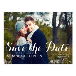 Simply Modern Wedding Save the Date Photo Postcard