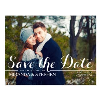 Simply Modern Wedding Save the Date Photo Postcard