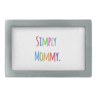 Simply Mommy Rectangular Belt Buckle
