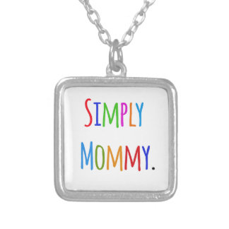 Simply Mommy Square Pendant Necklace