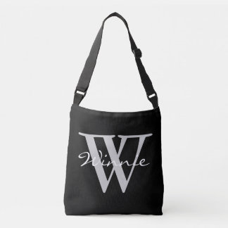 Simply Monograms & Names + your backgr. & ideas Crossbody Bag