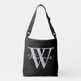 Simply Monograms & Names + your backgr. & ideas Crossbody Bag