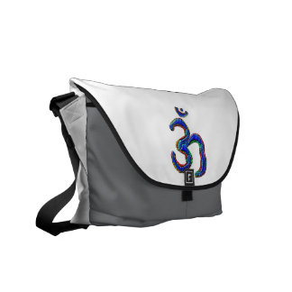Simply OM MANTRA Symbol Messenger Bag