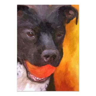 Simply Orange Dog 5x7 Mini Prints Card