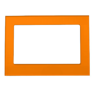 Simply Orange Solid Color Magnetic Photo Frames