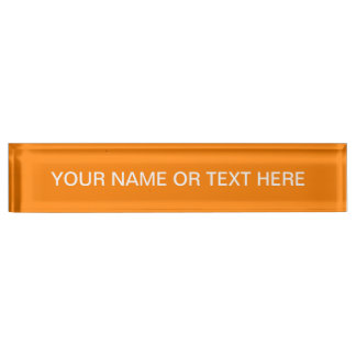 Simply Orange Solid Color Name Plate