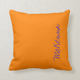 Simply Orange Solid Color Pillow