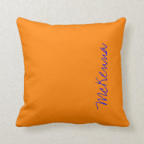 Simply Orange Solid Color Throw Pillow