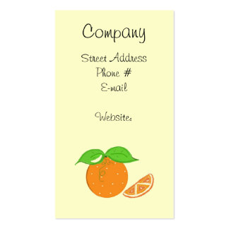 Simply Oranges Business Card Templates
