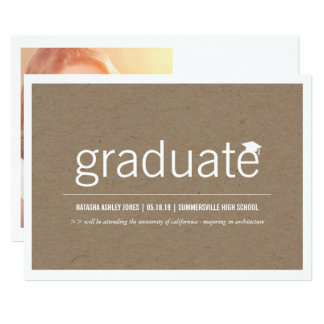 Simply Paper Modern Graduate Graduation Photo Card