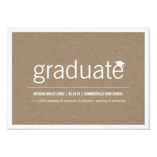 Simply Paper Modern Graduate Graduation Photo Cards