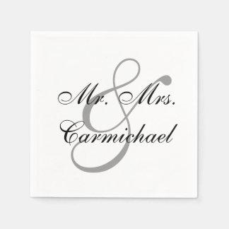 Simply Perfect Mr. & Mrs. Napkin Standard Cocktail Napkin