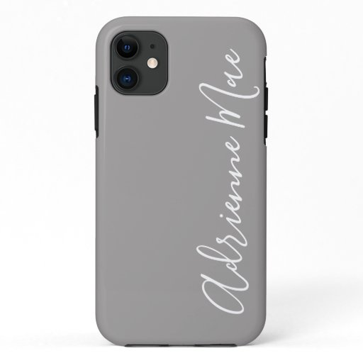 Simply Personalized Ash Gray iPhone 11 Case