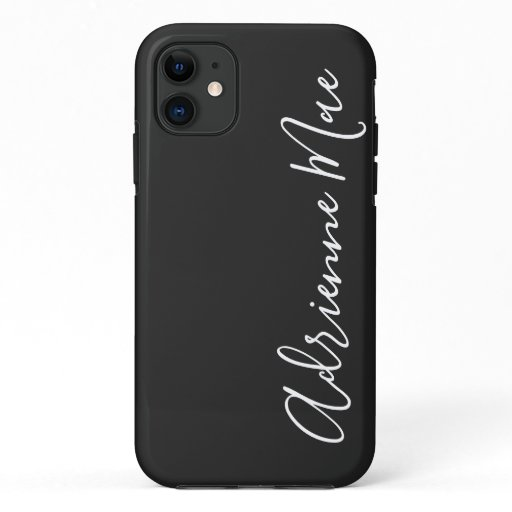 Simply Personalized Charcoal Slate iPhone 11 Case