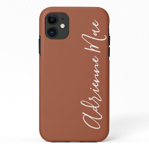 Simply Personalized Cinnamon Brown iPhone 11 Case