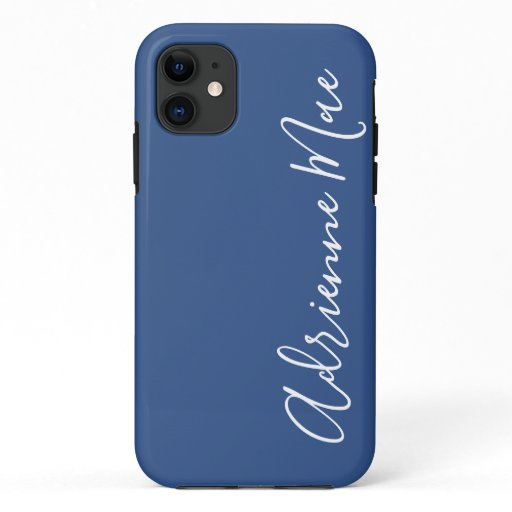 Simply Personalized Classic Blue iPhone 11 Case