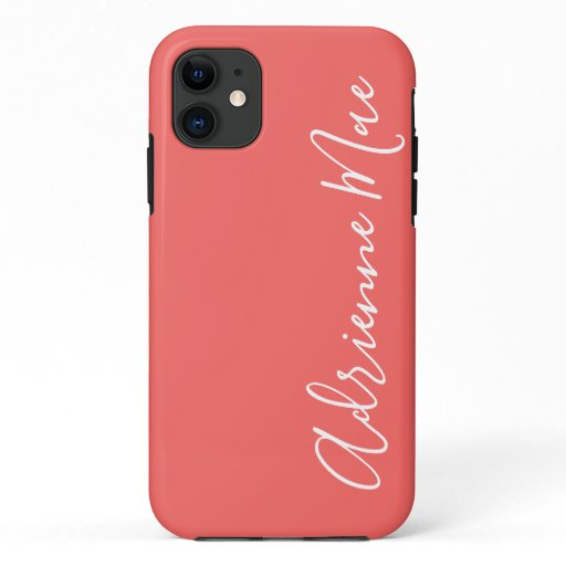 Simply Personalized Coral Blush iPhone 11 Case
