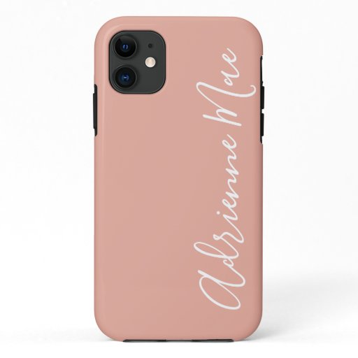 Simply Personalized Coral Pink iPhone 11 Case