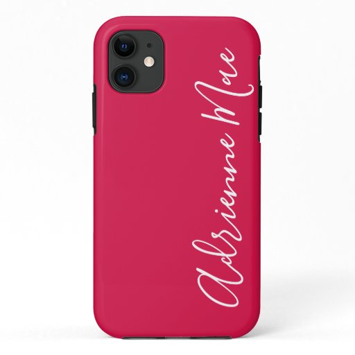 Simply Personalized Crimson Red iPhone 11 Case