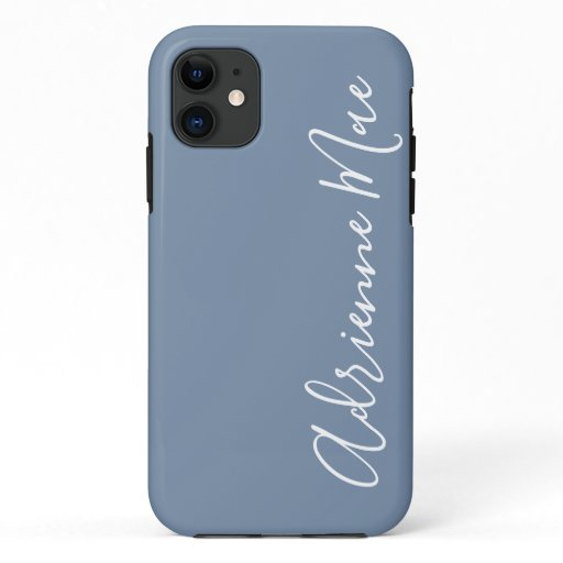 Simply Personalized Denim Blue iPhone 11 Case